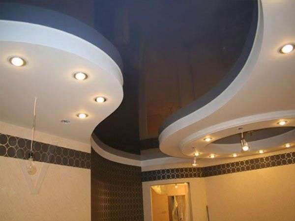 Натяжные потолки в зал, гостиную (18)