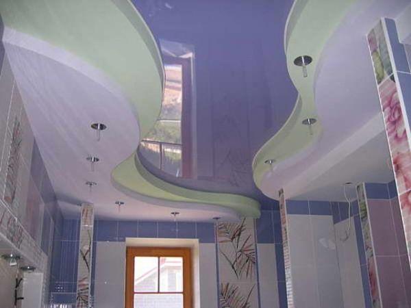 Натяжные потолки в зал, гостиную (20)