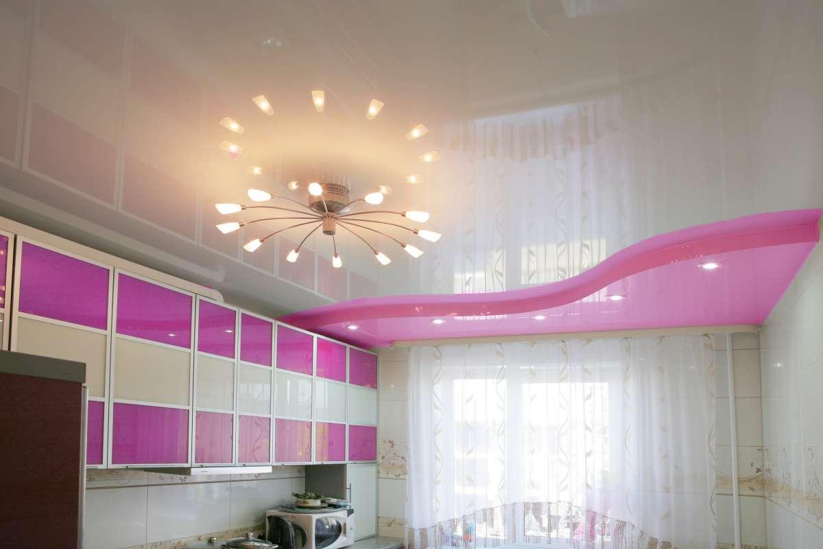 натяжной потолок для кухни в Уфе (12)