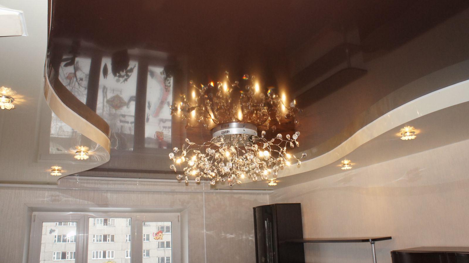 потолки натяжные фото для зала матовые