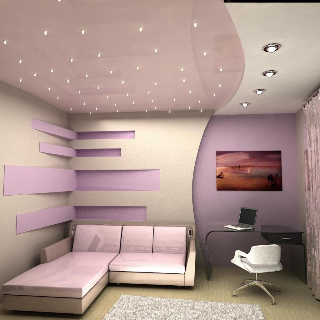 Пример натяжного потолка
