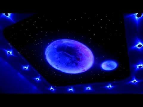Натяжной потолок звездное небо с помощью программируемого устройства и светодиодов