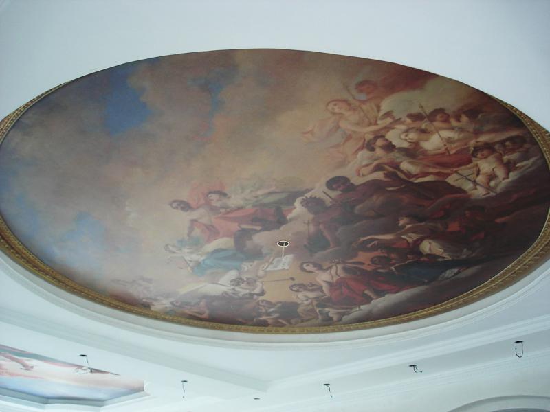 Натяжной потолок с изображением фрески