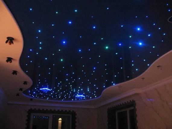 Натяжной потолок с применением кристаллов Сваровски