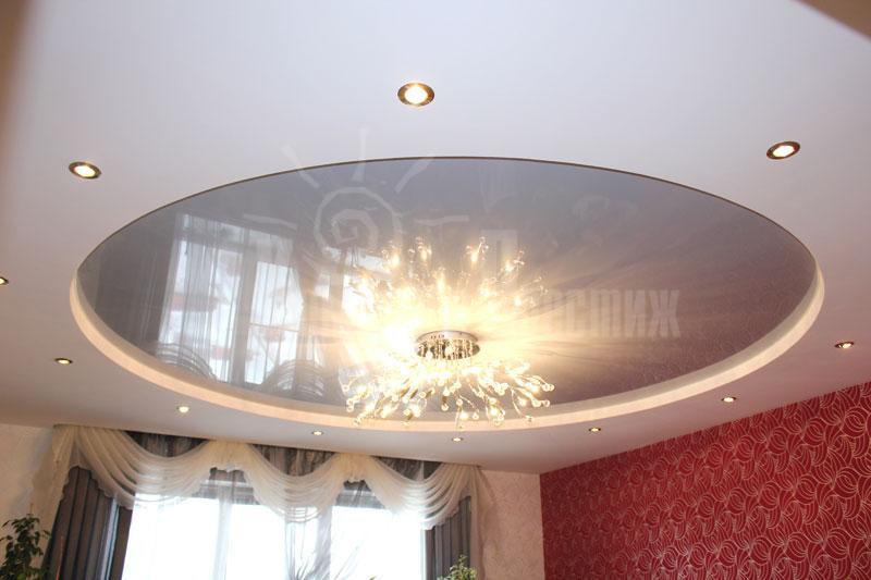 Натяжные потолки в зал, гостиную (19)