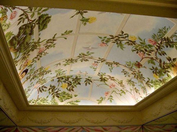 Натяжные потолки в зал, гостиную (22)