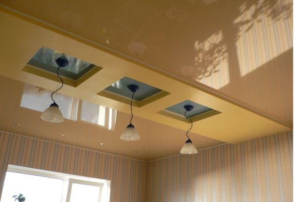 Натяжные потолки в зал, гостиную (28)