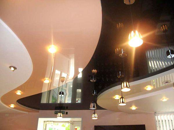 Натяжные потолки в зал, гостиную (29)