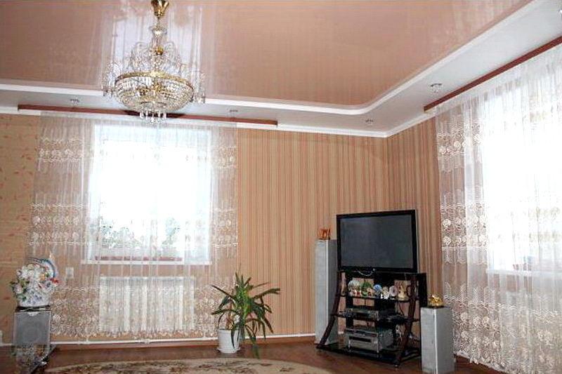 Натяжные потолки в зал, гостиную (9)