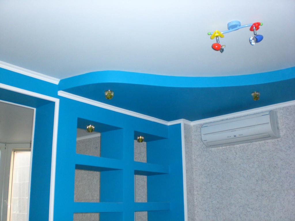 Тканевый натяжной потолок в детскую