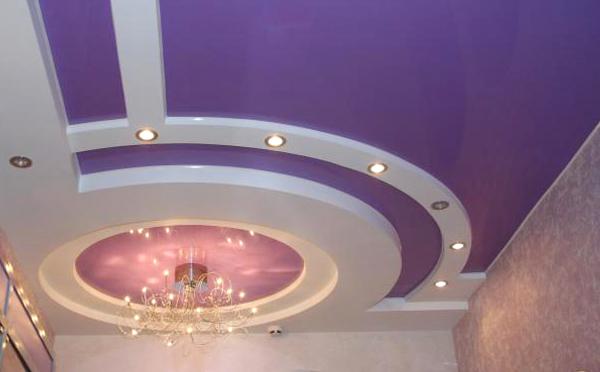 Сиреневые натяжные потолки  имеют расслабляющие свойства.