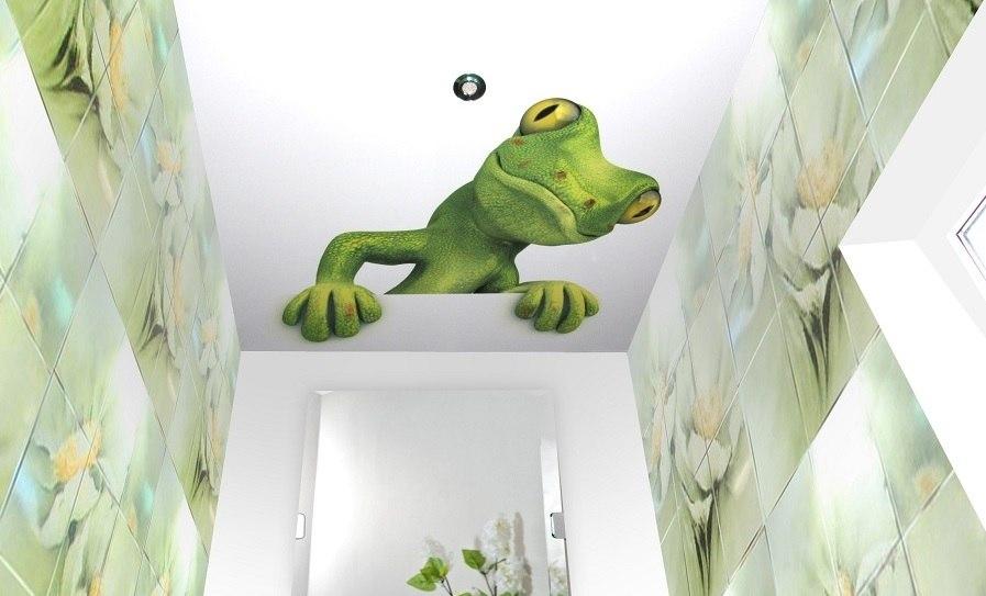 Необычная дизайнерская задумка натяжного потолка